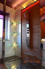oświetlenie led w łazience prywatnego domu